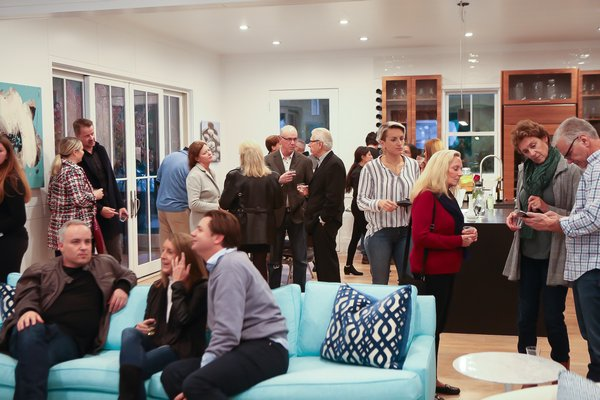 The crowd at the 'Love Is Not All' opening reception.  CHLOE GIFKINS