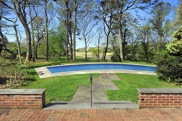 The view from a pondfront home at 6 La Forest Lane in East Hampton. COURTESY CORCORAN
