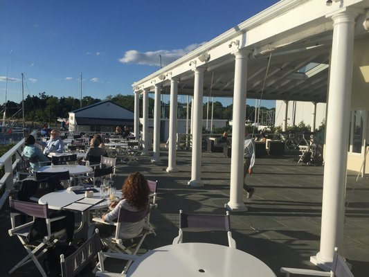East Hampton Point's breathtaking sunsets and sprawling outdoor dining decks will be run by the crew from Moby's this summer.