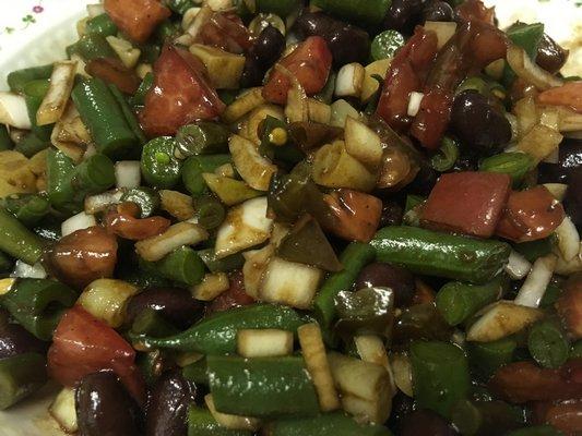 Four-bean salad.   JANEEN SARLIN