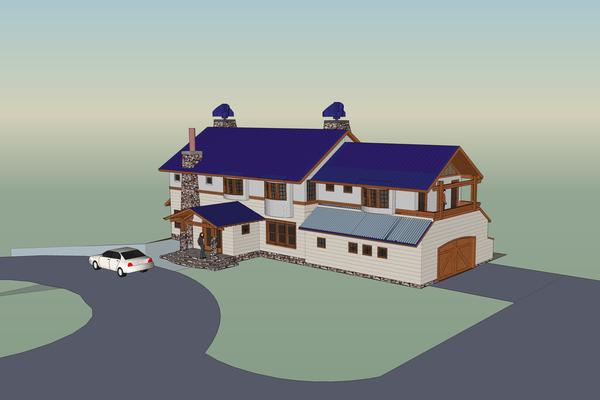Rendering of the HGA house.<br></noscript>Courtesy Hamptons Green Alliance