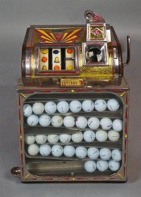 A golf ball slot machine from Three Ponds Farm. COURTESY THE POTOMACK COMPANY