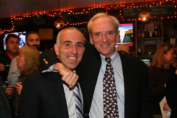 Suffolk County Legislator Jay Schneiderman and East Hampton Town Supervisor-elect Bill Wilkinson