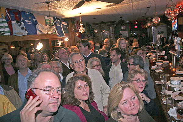 The East Hampton Republicans Election Night gathering at Indian Wells Tavern in Amagansett.
