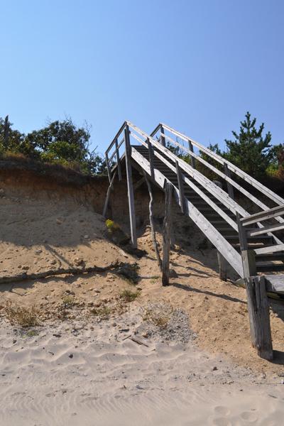 Sand gully under the stairs.  Elizabeth Laytin