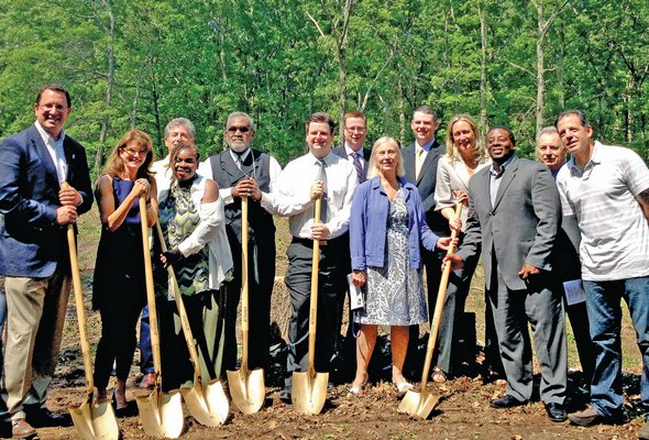 June 6: Southampton Town, Housing Authority and Long Island Housing Partnership officials gathered in Flanders last week to break ground on the first of 11 new affordable homes that will be built.
