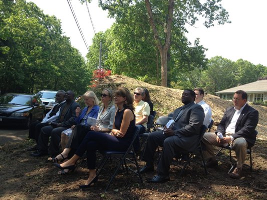 Southampton Town officials gathered in Flanders for a groundbreaking ceremony at the site of the first of nine affordable homes the Southampton Housing Authority will build over the next six months. BY CAROL MORAN