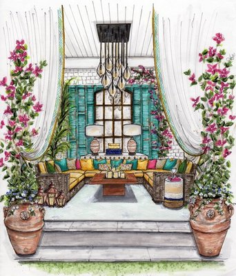 Rajni Alex's Outdoor Oasis at the Hamptons Designer Showhouse