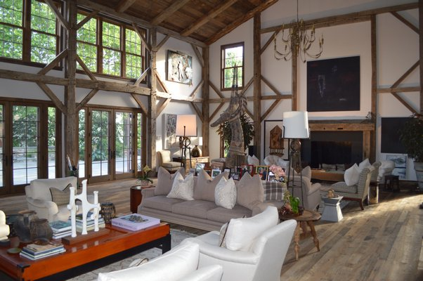 Joan and George Hornig's art barn in Water Mill serves as a venue for events, including a Clinton Global Initiative with all three Clintons later this summer. CHRIS ARNOLD