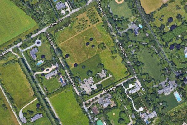 The Zuckerberg properties on Tyson Lane and Further Lane. GOOGLE MAPS