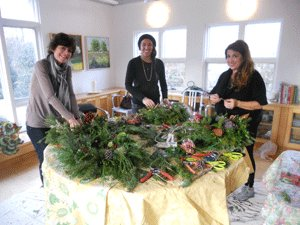 Bridge Gardens is bringing back its wreath decorating workshop after a successful turnout last year. COURTESY PECONIC LAND TRUST