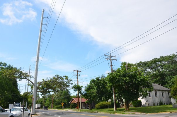 PSEG has said it will bury 24 of the storm hardened steel utility poles it installed in 2017 in Eastport.