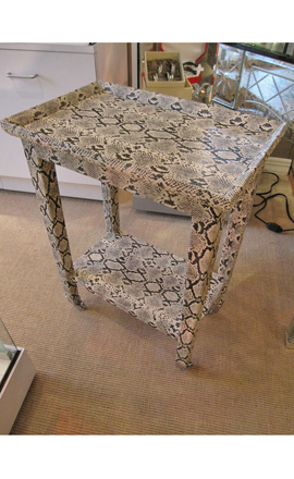 Retro faux python table at Donna