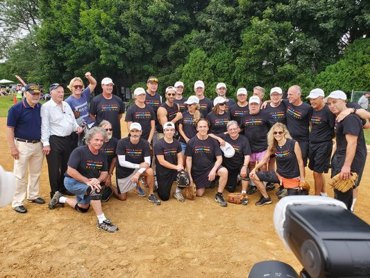 This year's artists for the 71st annual charity softball game at Herrick Park in East Hampton.