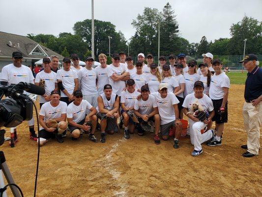 This year's writers for the 71st annual charity softball game at Herrick Park in East Hampton.