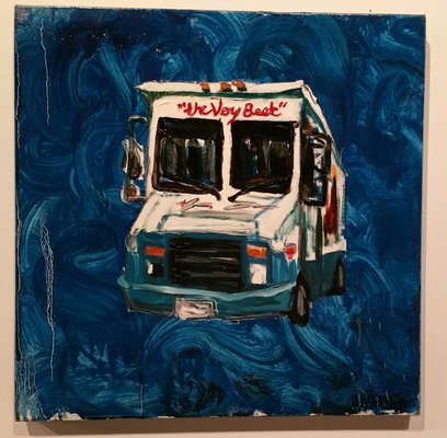 Ice cream truck painting by Mitchell Schorr.