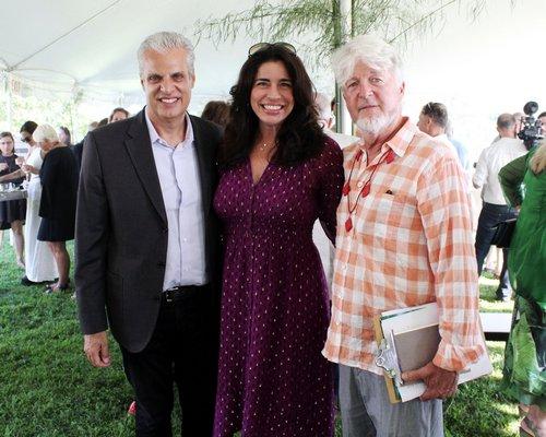 Eric and Sandra Ripert with honoree Jon Snow