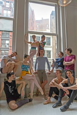 Hamptons Dance Project dancers, left to right, Carlos Gonzales, James Whiteside, Isabella Boylston, Cassandra Trenary, Jose Sebastian, Erica Lall, Tyler Maloney, Blain Hoven, Sung Woo Han, Thomas Forster.