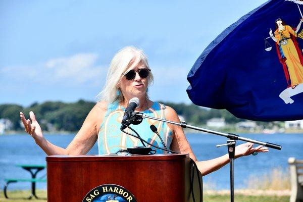 Sag Harbor Village Mayor Kathleen Mulcahy.  DANA SHAW