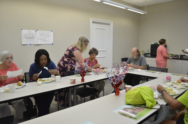 Senior citizens living in the Westhampton area can enjoy a free lunch every Tuesday and Wednesday at noon at the Westhampton Free Library. JORDANA PEARLMAN