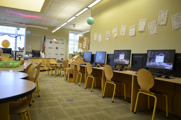 Computers in the new children's space on the second floor. ANISAH ABDULLAH