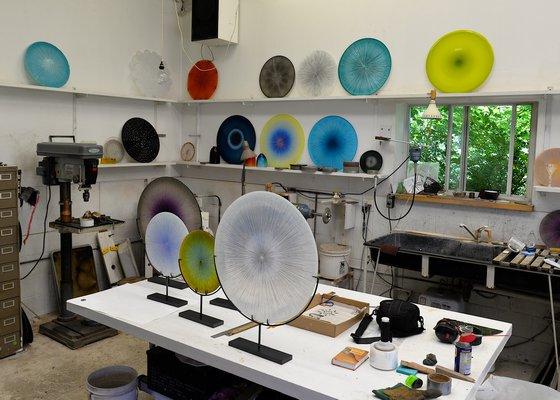 Andy Stenerson's glass studio.