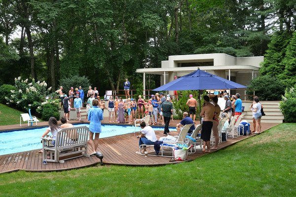 The third annual Swim For The Cure was held at the home of Billy, Dominique and Tommy Kahn in East Hampton on Saturday.