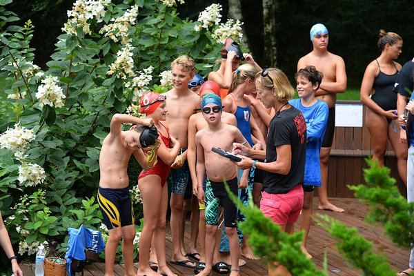 There were a number of young swimmers on hand from the Hurricane swim team at this year's event.