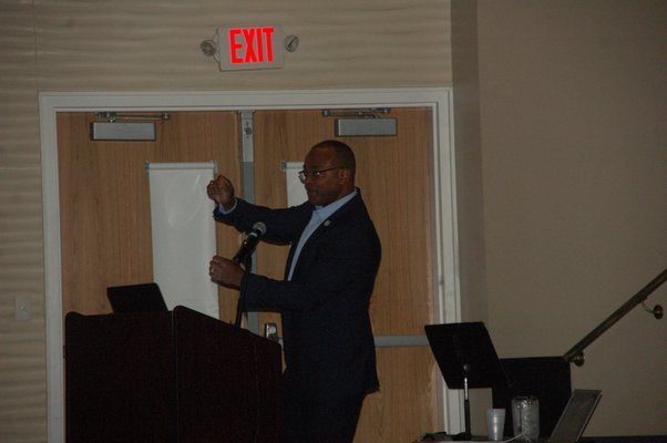 Dr. Oliver Robinson, the superintendent of Shenendehowa Central School District in Albany and New York State superintendent of the year, was one of the guest speakers on Friday.  ELIZABETH VESPE