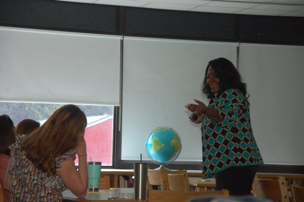 Natalie McGee, a national presenter on topics such as cultural proficiency, common core state standards implementation, and mutli-tiered system, was one of the guest speakers on Friday.  ELIZABETH VESPE