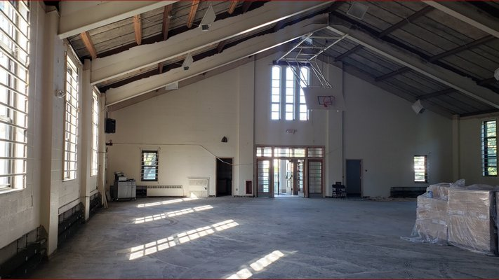 Inside the Sage Hall gymnasium of the newly renovated Sag Harbor Learning Center.
