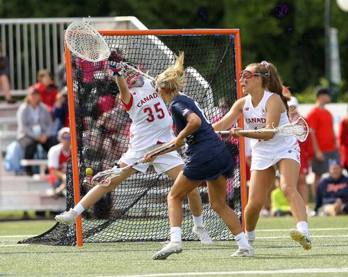 Isabelle Smith scores in the gold-medal games against Canada.