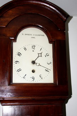 An original Dominy clock owned by the East Hampton Historical Society.   KYRIL BROMLEY