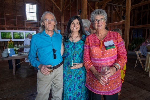 Daniel and Mary Ann Mulvihill-Decker and Carol Mulvihill-Ahlers during the annual Peconic Land Trust Gala at the Ocean View Farm in Bridgehampton on Sunday evening.