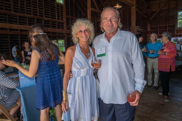 Michelle Seitz and Michael Daly during the annual Peconic Land Trust Gala at the Ocean View Farm in Bridgehampton on Sunday evening.