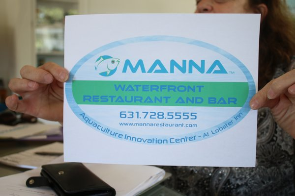 The restaurant's proposed sign which still needs town approval. PEGGY SPELLMAN HOEY