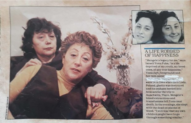 The sisters were featured in a newspaper article.