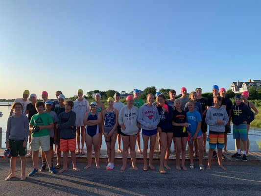 This year's teen triathlon participants.