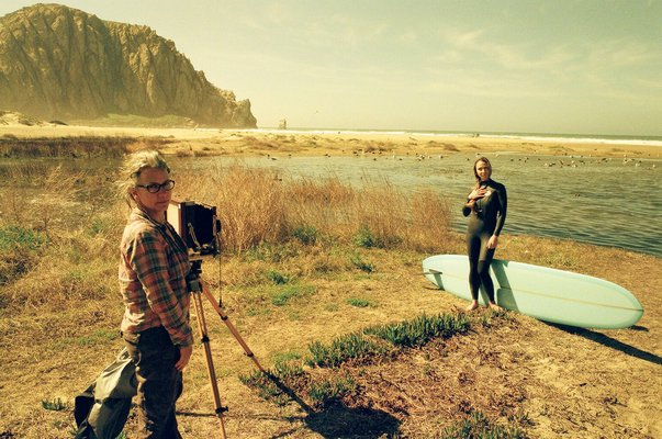 Joni Sternbach shooting on location. BEN BARNICK