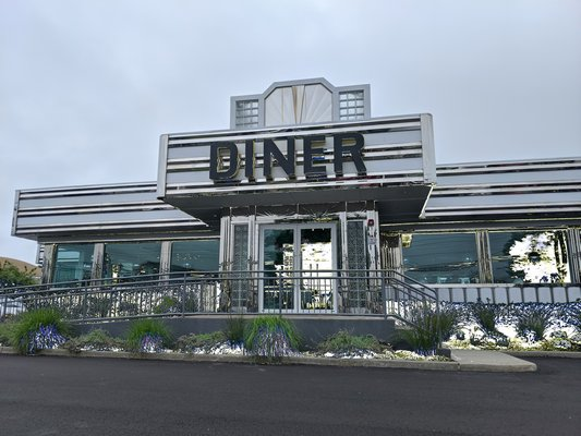 Silver Lining Diner open for business on Montauk Highway.