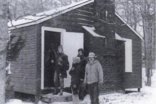 The cabin at Camp Norweska during the 1970s.