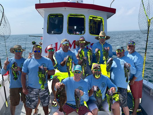 Members of the Southampton Fire Department got in some fluke and sea bass fishing aboard the Hampton Lady last week.