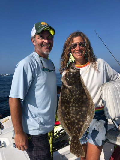 Michael Strauss and Cozy Friedman caught some nice fluke outside Shinnecock Inlet last week.