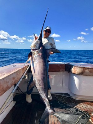 Captain Harry Garrecht and the crew of Sea Duece decked this nice swordfish over the weekend.