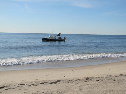 Gillnet boats commonly anchor their nets just a few yards from the surf line. This summer beachgoers reported encountering the nets and a humpback whale became entangled in one.