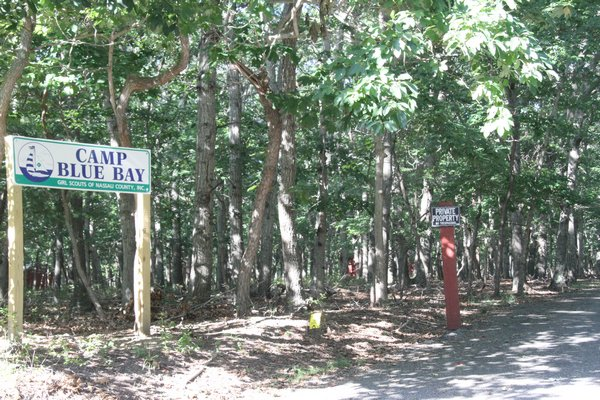 Camp Blue Bay, off Flaggy Hole Road, is owned by the Girl Scouts of Nassau County. There is already an 80-foot cellular tower and the company that owns it is applying for permission to build a new one, 150 feet tall, that could host emergency communications equipment for the town.