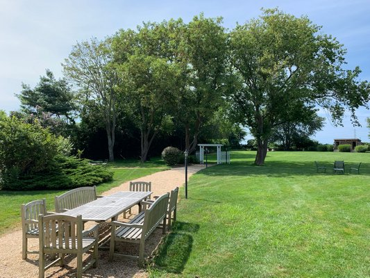 Gansett Green Manor, in Amagansett, recetly changed ownership when it was sold for $6.175 million. BEN KAVA