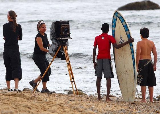 Joni Sternbach shooting on location. MICHAEL ROVNYAK
