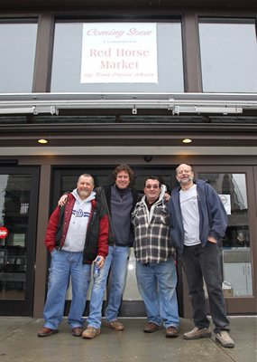Gennaro Giugliano, Tim McClung, Pasquale Langella and Bill Bertha at the Red Horse Market in 2012.  PRESS FILE
