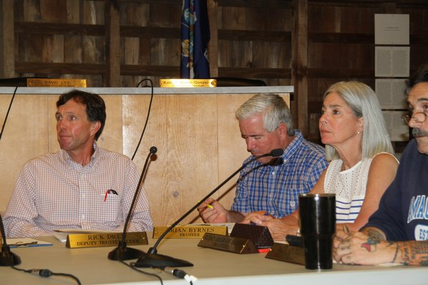 East Hampton Town Trustee Rick Drew, left, has said he thinks there should be better regulation of gillnetting in the ocean off the South Fork.